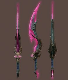 This sword was a task from one studio but don't know who is the concept artist, i made the model and texture it on Photoshop,all paint by hand. Fantasy Dagger, Fantasy Weapons, Ninja Weapons, Anime Weapons, Armor Concept, Weapon Concept Art, Cool Swords, Spaceship Concept, Dark Fantasy Art