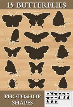 15 #Photoshop Butterflies shapes - #Animals #Shapes