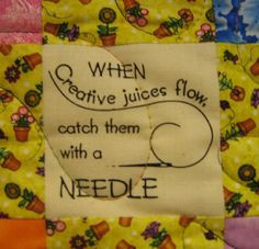 Quilter's Sayings by Monroe County Library System - 9-4-07