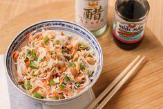 salade de vermicelles de riz à la coriandre et cacahuètes - asian rice noodle salad (1 of 1)