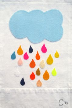 Rainy cloud - embroidery