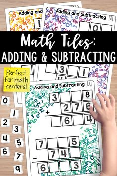 These adding and subtracting math tiles are a hands-on activity that takes students' thinking beyond procedures and rote memorization. Build a concrete understanding of regrouping, ungrouping, and place value. Math tiles make the perfect math centers!