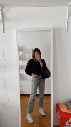 Cute Casual Outfits, Modest Outfits, Simple Outfits, Pretty Outfits, Mom Jeans Outfit, Blazer Outfits, Winter Fashion Outfits, Autumn Fashion, Mode Ootd