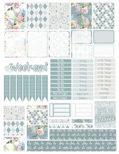 This is a set of printable stickers. The full box stickers are sized to fit the Erin Condren Vertical Life Planner boxes (1.5 inches by 1.9 inches)