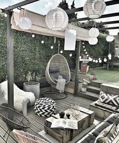 patio ideas on a budget ; patio ideas on a budget backyard ; patio ideas on a budget diy ; patio ideas on a budget pavers Outdoor Spaces, Outdoor Living, Outdoor Patios, Outdoor Decor, Outdoor Seating, Rooftop Decor, Rooftop Patio, Outdoor Balcony, Garden Seating