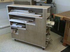 My Cutoffs & Sheets Cart - by dakotawood Wood Storage Rack, Lumber Storage, Wood Rack, Table Storage, Storage Bins, Garage Workshop Organization, Diy Garage Storage, Workshop Storage, Workshop Ideas