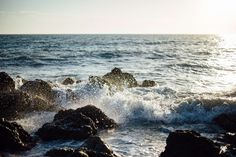 #breakers #coastline #ocean #rocks #salt water #sea #seascape #seashore #seawater #sunset #water #waves #waves breaking