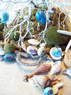Sally Lee by the Sea Coastal Lifestyle Blog: {Coastal Crafts} Ocean-Inspired Easter Eggs