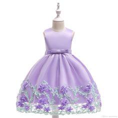 9efb9f267e53 2018 new collection Children s dresses princess style Girl s floral wedding  dress Three-dimensional flowers cotton lining 3pcs a lot. Little ...