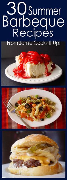 30 Summer Barbecue Recipes ~ I hope it will come in handy for you all summer long. Just click on the blue links or the photos below to go to that particular recipe.  There are a number of them I want to make right now - Enjoy!