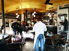 Cafe Charlot in the 3rd arrondissement... One of the sexiest cafes in the city! (And the clientele are just as gorgeous!)