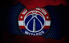 Download wallpapers Washington Wizards, 4k, logo, NBA, basketball, Eastern Conference, USA, grunge, metal texture, Southeast Division