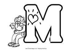 Colouring alphabet M