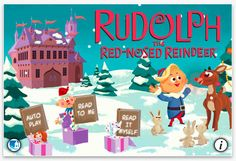 Rudolph! Our fave movie now a really wonderful interactive storybook app for kids.