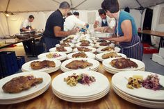 Plating Up...Crumbed veal cutlet w red cabbage slaw, aioli & lemon  www.cookesfood.com.au