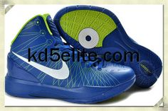 new concept f337e 3390f Nike Zoom Hyperdunk Elite Blake Griffin Blue Volt Green Basketball Shoes,  Basketball Shoes On Sale