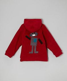Take a look at this Red Robot Fleece Zip-Up Hoodie - Infant & Toddler by Corky & Company on #zulily today!