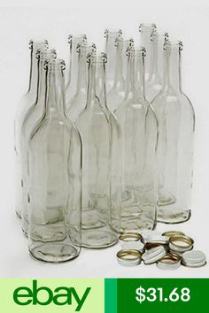 50 2ml vials bitty bottles clear jars with lids glass bottle with