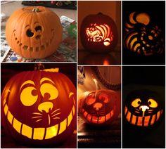 11 awesome cat pumpkin carving ideas art pinterest. Black Bedroom Furniture Sets. Home Design Ideas
