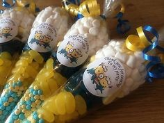 Minions sweet cones,Minions Themed pre filled, Party Bags **PERSONALISED** in Home, Furniture & DIY, Celebrations & Occasions, Party Supplies | eBay