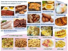 Dukan Diet Pure-Protein Breakfast Ideas