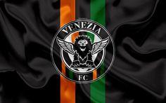 Download wallpapers Venezia FC, 4k, Serie B, football, silk texture, emblem, silk flag, logo, Italian football club, Venice, Italy