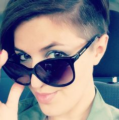 Love the shaved side.  Short hair rocks! Best. Haircut.  Ever.