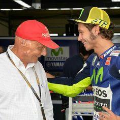 Rossi and Niki Lauda