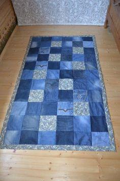 Videolu, Kottan Battaniye, Paspas Modelleri ve Yapılışı - Diy Quilting Projects, Blue Jean Quilts, Patchwork Jeans, Denim Crafts, Recycle Jeans, Recycled Denim, Diy Carpet, Rag Quilt, Quilt Patterns