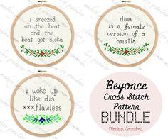 Beyonce Cross Stitch PATTERN Bundle by ModernGrandma on Etsy, $15.00