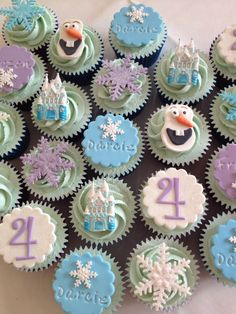 Disney's Frozen 4th Birthday cupcake