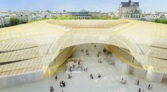 La Canopee - the canopy over Chatelet-Les Halles in urban Paris - will be ready in 2016. Article: How Paris Is Trying to Fix One of the Worst Planning Decisions It Ever Made