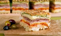 Turkey Club Panini ~ Piled mile high with deli meats and cheeses, this big sandwich is perfect to feed a hungry crowd.