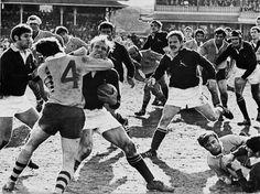Wallabies-Boks 1971 Hannes Marais getting high tackled in the third test.