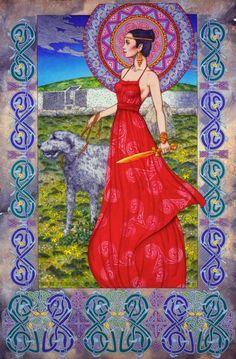 Boann: A Celtic Goddess of the Tuatha De Dannan Mythical Tribe, she is a River Goddess and a Warrior Goddess.