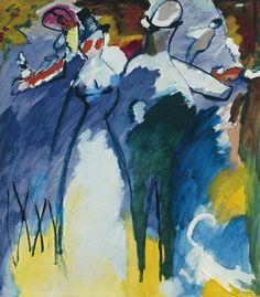 Wassily Kandinsky Impression Sonntag (Impression Sunday), 1911 olio su tela / oil on canvas 107.5 x 95 cm Städtische Galerie im Lenbachhaus und Kunstbau München. Torino GAM L'emozione dei colori nell'arte.