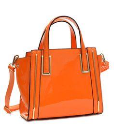Look at this #zulilyfind! Orange Sydnne Mini Satchel #zulilyfinds