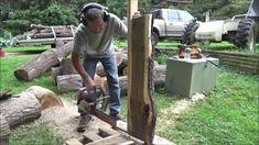 Mini Chainsaw Mill Attachment. Milling Red Oak and Walnut.