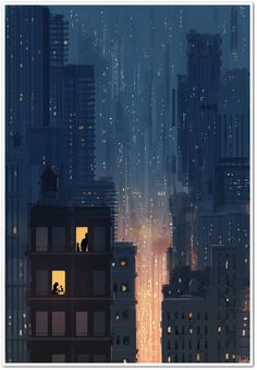 Kai Fine Art is an art website, shows painting and illustration works all over the world. Aesthetic Art, Aesthetic Anime, Arte 8 Bits, Scenery Wallpaper, Anime Scenery, City Art, New Wall, Belle Photo, Cute Wallpapers