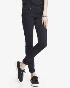 Black Mid Rise Jean Legging from EXPRESS $42