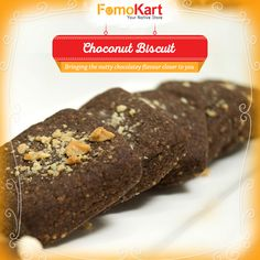 #Chocolate mixed with nuts in a crispy cookie. Order this deliciousness from http://www.fomokart.com/bakery-and-choc…/choco-nuts-biscuits #bakery #biscuits #onlineorder