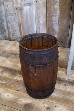 Antique Wooden Barrel Nail Keg Old Vtg Rustic Farm Barn Western Cowboy Decor | eBay