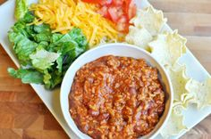 Taco Salad Dippers  Hmmmm....   use ground turkey and add it to a salad, make lettuce wraps, make tortilla wraps.