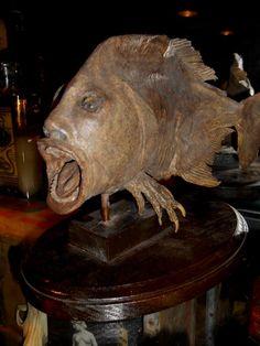 Vintage MANFISH Half Man Half Fish Gaff for sale at Gothic Rose Antiques http://www.gothicroseantiques.com/VintageMANFISHHalfManHalfFishGaff.html