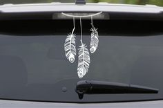 Dream Catcher Feather Decal Mandala Decal Car Decal Wall Decal Indian Native American Boho Decal Hippie Spirit Animal  WHITE RECOMMENDED FOR VEHICLES & WINDOWS FOR VISIBILITY  This decal is not available in less than 12. It is way too intricate and cannot be made smaller than this. Thank you in advance :)  PRODUCT DETAILS   Glossy finish (Black is M...