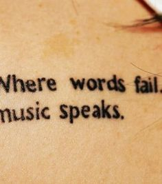Quotes Tattoo Cute Quotes Music Tattoo Small Quote Tattoos Small ...