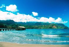 Hanalei Bay, Kauai   maybe this is the spot where i get married :)----- MCK YOU CANT BECUSE I CANT TAKE THE JETSKIS THERE!! EAST COAST!