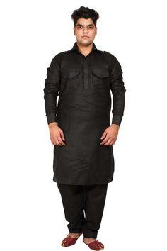 Noir Lilen & Coton Pattani Suit Prix:-38,19 € Andaaz Mode nouvelle arrivée mens ethniques porter du noir Lilen Pattani Kurta Pyjama http://www.andaazfashion.fr/black-lilen-cotton-pathani-suit-5100.html