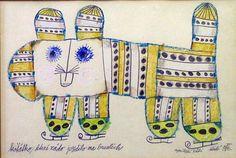 Zdenek Seydl (1916-1978)  was a Czechoslovakian painter, graphic, stage and costume designer. Originally Zdenek Seydl trained as a typographer.