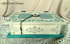 old vintage book box, shabby chic, victorian, antique box by Adisa Lisovac Decoupage